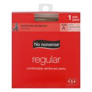 No nonsense Petite/Medium Size Regular Nude Pantyhose