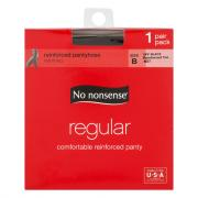 No nonsense Medium/Tall Size Regular Off Black Pantyhose
