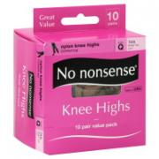 No nonsense Queen Size Tan Knee Highs