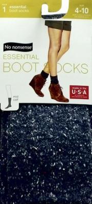 No nonsense Midcalf Boot Sock, Denim