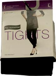 No nonsense Opaque Tights, Footless, Black, Large