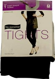 No nonsense Opaque Tights, Footless, Black, Medium