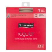 No nonsense Regular Tan Reinforced Toe Pantyhose