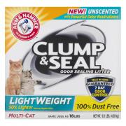 Arm & Hammer Clump & Seal Lightweight Unscented Litter