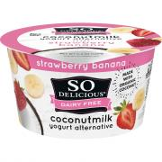 So Delicious Coconut Milk Strawberry Banana Yogurt