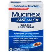 Mucinex FAST-MAX Cold Flu & Sore Throat Liquid Gels
