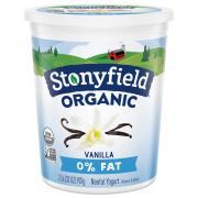 Stonyfield Organic 0% Fat Vanilla Yogurt