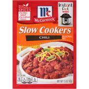 McCormick Slow Cooker Chili