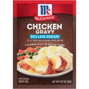 McCormick 30% Less Sodium Chicken Gravy Mix