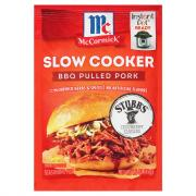 McCormick Slow Cookers Barbecue Pulled Pork Mix