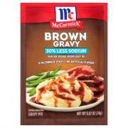 McCormick 30% Less Sodium Brown Gravy Mix