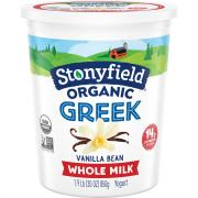 Stonyfield Organic Greek Whole Milk Vanilla Bean Yogurt