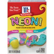 McCormick Assorted Neon Food Coloring