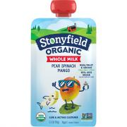 Stonyfield Organic Whole Milk Pear,Spinach,Mango Yogurt