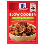 McCormick Slow Cookers Beef Stew Mix