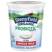 Stonyfield Organic Whole Milk Plain Yogurt