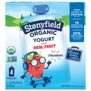 Stonyfield Organic Kids Strawberry Lowfat Yogurt Pouch