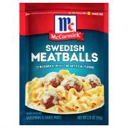 McCormick Swedish Meatballs Seasoning & Sauce Mixes