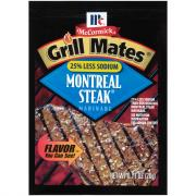 McCormick Grill Mates Montreal Steak 25% Less Sodium