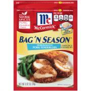 McCormick Herb Roasted Pork Tenderloin Bag 'n Season