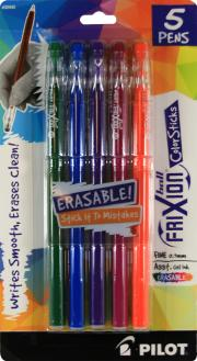 Pilot Frixion Ball Color Sticks Erasable Pens