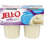 Jell-O Sugar Free Vanilla Pudding Snacks