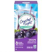 Crystal Light w/ Caffeine Pitcher Packets Grape