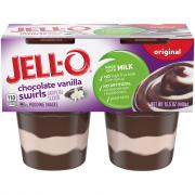 Jell-O Chocolate Vanilla Swirls Pudding Snacks