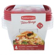Rubbermaid TakeAlong 5.2-Cup Deep Square Containers