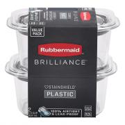 Rubbermaid Brilliance Clear 1.3 Cup Containers