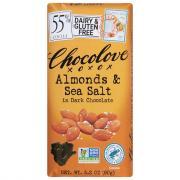 Chocolove Bar Dark Chocolate With Almond Sea Salt