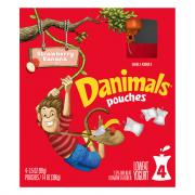 Dannon Danimals Squeezables Swingin' Strawberry Banana Pouch