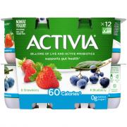 Dannon Activia Light Strawberry Blueberry Yogurt