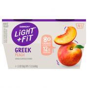 Dannon Light and Fit Peach Greek Yogurt