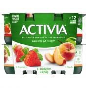 Dannon Activia Peach & Strawberry Yogurt