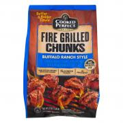 Cooked Perfect Fire Grilled Buffalo Chicken Chunks