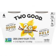 Dannon Two Good Greek Vanilla Yogurt