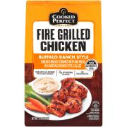 Cooked Perfect Fire Grilled Buffalo Ranch Chicken Chunks