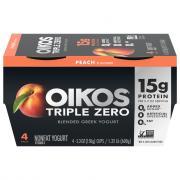Dannon Oikos Triple Zero Peach Yogurt