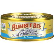 Bumble Bee Low Sodium Solid White Albacore Tuna in Water