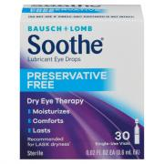 Bausch + Lomb Soothe Lubricant Eye Drops Single Dose Vials
