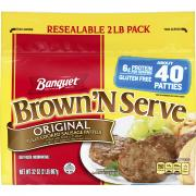 Banquet Value Pack Brown 'N Serve Original Sausage Patties