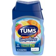 Tums Smoothie Assorted Fruit Chewable Antacid Tablets
