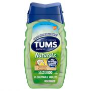 Tums Naturals Antacid Coconut Pineapple Chewable Tablets
