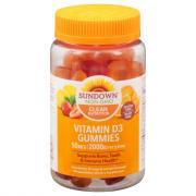 Sundown Naturals Vitamin D3 Gummies 2000IU