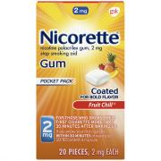 Nicorette 2mg Fruit Chill Gum
