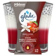Glade 2in1 Creamy Custard & Apple Cinnamon Candle