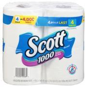 Scott 1000 Count White Bath Tissue