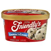Friendly's Cookies N' Cream Ice Cream