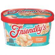 Friendly's Orange Creme Swirl Ice Cream